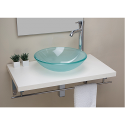 SATIN GLASS WASHBASIN WITH...