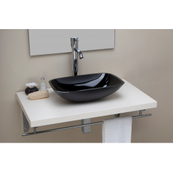 BASIN IN GLASS BLACK...