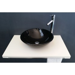 BASIN IN BLACK GLASS ROUND...