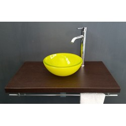 BASIN IN YELLOW GLASS ROUND...