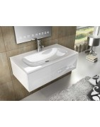 Bathroom furniture suspended with washbasin